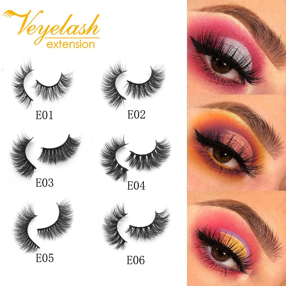 2PCS 3D Mink Lashes 100% Handmade Individual 3d Lashes False Eyelashes Wholesale Dramatic Eyelash Extension Makeup