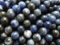 Frete grátis atacado (2 fios/lote) natural 10mm sodalita pedra contas redondas jóias fazendo materiais