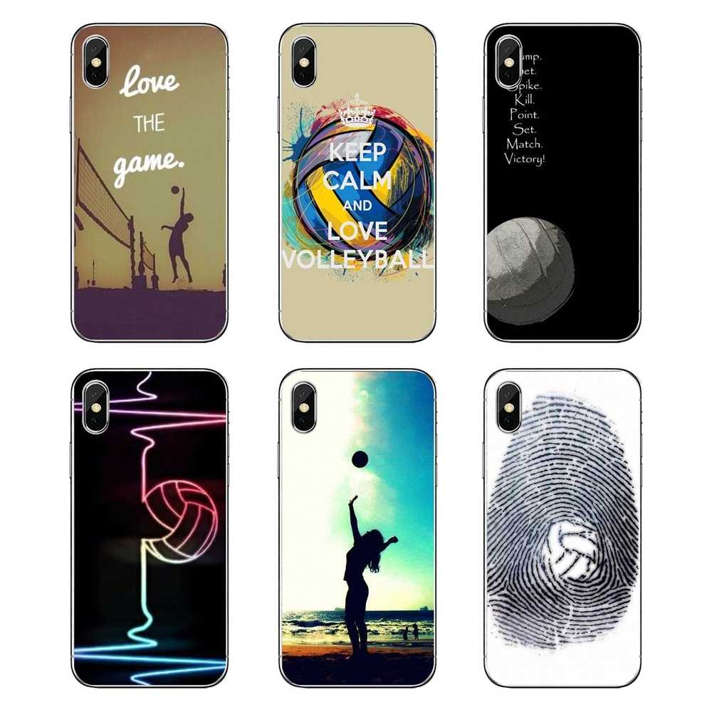 Girls Sports Fans Peace Love Volleyball Art For Huawei Honor 8 8C 8X 9 10 7A 7C Mate 10 20 Lite Pro P Smart Plus Silicone Covers