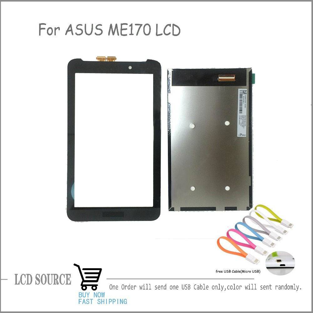OEM For ASUS Memo Pad 7 ME170 ME170CG FE170CG FE7010CG LCD Display+Touch Digitizer Screen Separatly Replacement