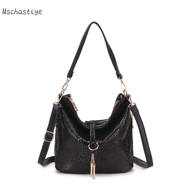 Mschastiye 2018 женские новые серпантин кожаная сумка небольшая сумка  женская сумка женский кисточкой сумки на ремне 2c89796d4b8