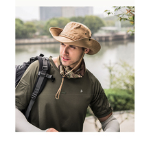 New outdoor folding hat ladies summer quick-drying fisherman visor mens sun protection mountaineering