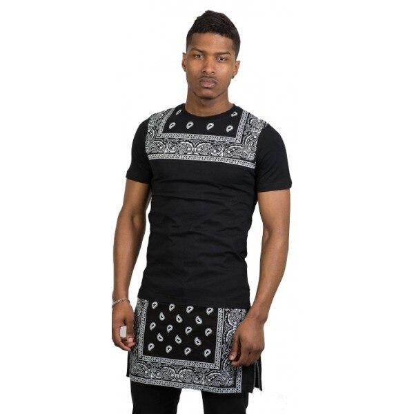 Fashion Bandanna print black gold zipper oversize style hiphop ...