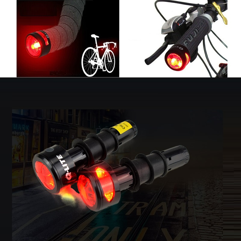 New Q-LITE HANDLEBAR Road Bar End Light cycling  LED RED