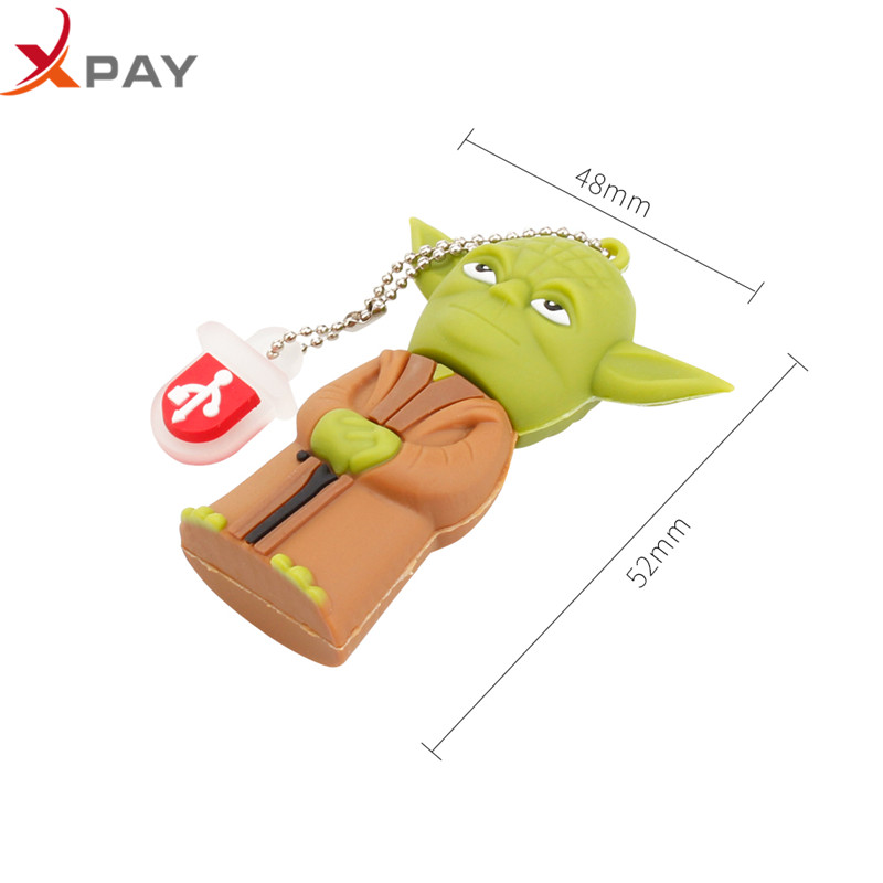 Image 4 - Wholesale Cartoon Star wars pendrive usb flash drive 32gb 2.0 pen drive 4GB 8GB 16GB flash memory Silicone 64GB 128GB Free Logo-in USB Flash Drives from Computer & Office