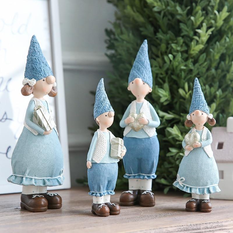 Image 4 - Miz 1 Pair Resin Figurine Christmas Gift Toy for Children Couple Doll Boy & Girl Figure Christmas Decoration Accessoriestoys fortoys for childrentoys toys -