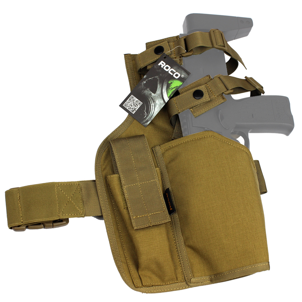 TTGTACTICAL MP7 Tactical Leg Holster With Spare Magazine Pouch Airsoft MP7 Holster SWAT Paintball Tactical Leg Drop Holster