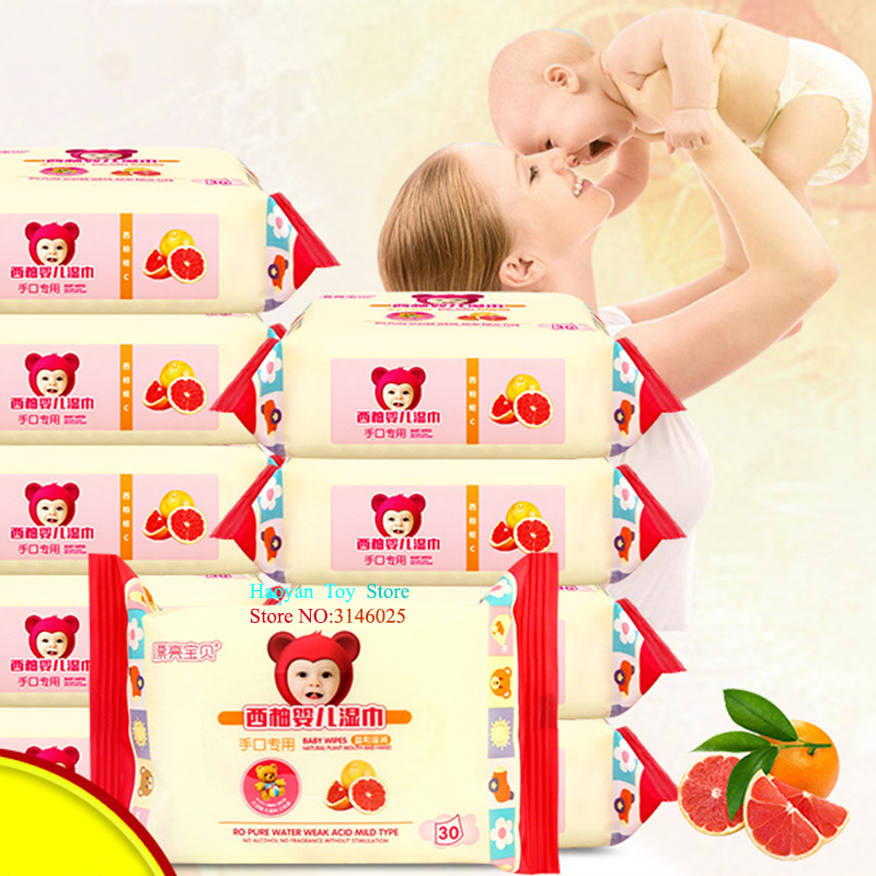 100pcs Baby Dual-use Dry/Wet Wipes Cotton Portable Tissue For Baby Traveling Skin Care Deep Purification Toddler Wipes SJZ0004