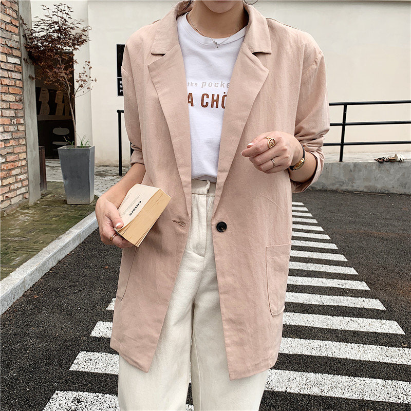 HziriP 2019 Summer Hot Office Ladies Loose New Large Size Full Sleeves Gentle Simple Chic All Match Fashion OL Women Blazers