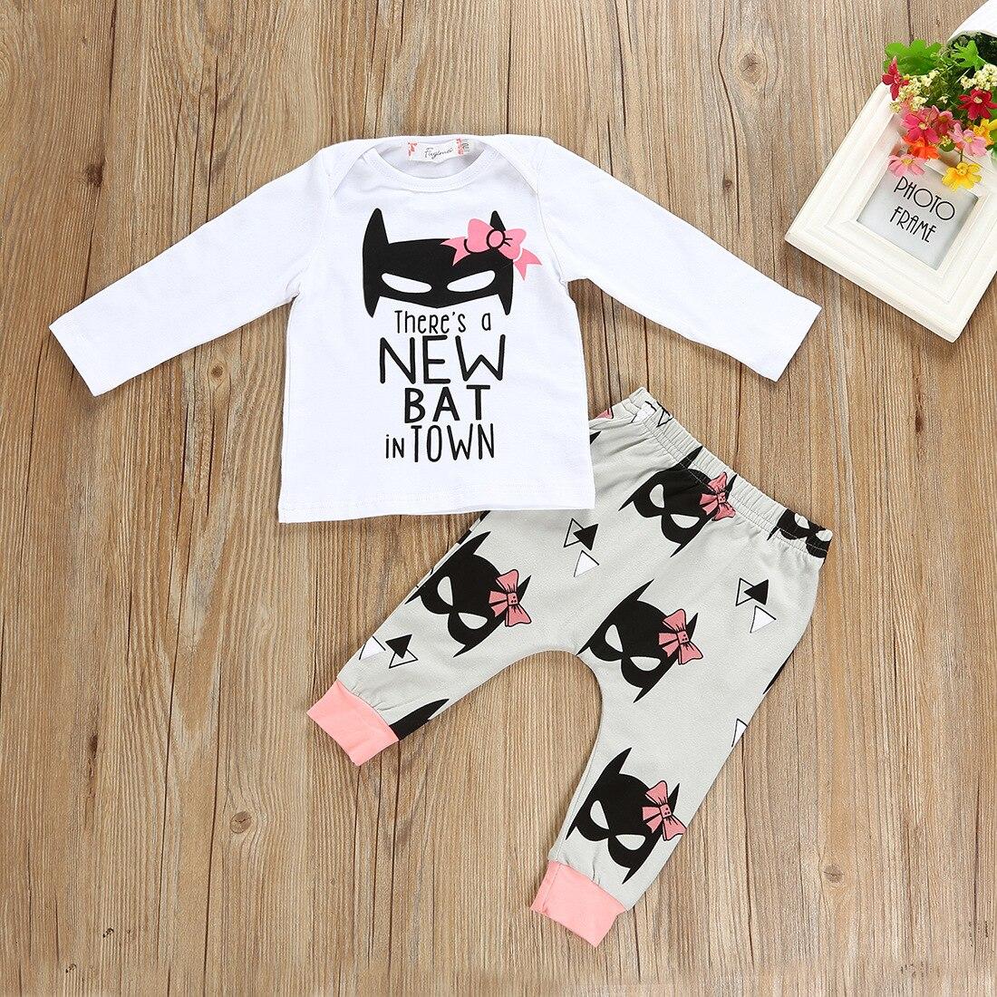 Enfants fille tenues/Il Ya un nouveau Batman en ville/Batman imprimer leggings