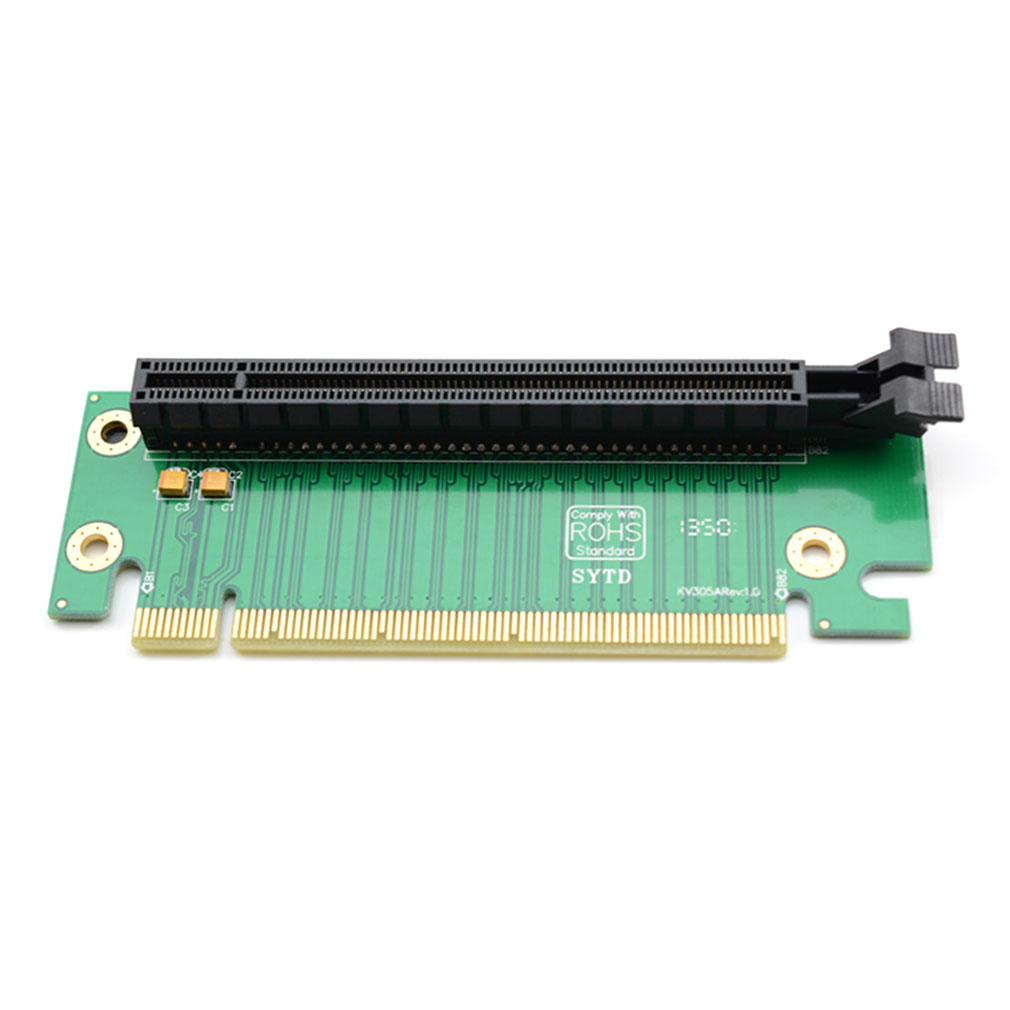 Hot Worldwide PCI-E Express 16X 90 Degree Adapter Riser Card For 2U Computer Server Chassis hot new pci e 16x экспресс 90 градусов адаптер riser card для 2u серверные корпуса компьютера