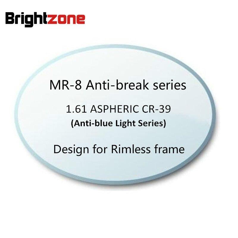 1.61 ASP MR-8 Anti-blue Light Computer Radiation UV Protection HC Anti-Reflective CR-39 resin eyeglasses prescription lenses