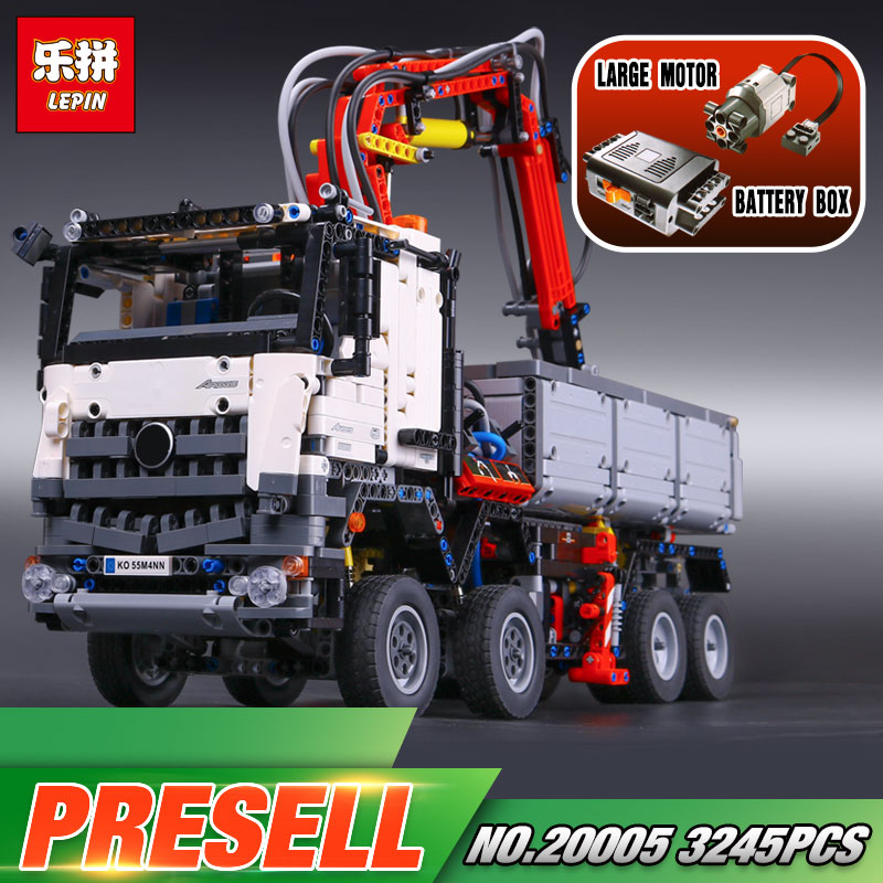 2793pcs NEW LEPIN 20005 technic series 42023 Arocs Model Building Block Bricks Compatible with Boys Toy Gift 2793pcs technic remote controlled arocs truck 20005 building kit 3d model blocks minifigures toys bricks compatible with lego