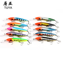 10PCS 24.4g 16cm Minnow Lures Fishing Hard Baits Isca Artificial Ocean Boat Sea Hook Wobbler Plastic Fishing Lures Swimbait