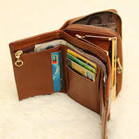 3 Fold Genuine Leather Women Wallets New Brand Portefeuille Femme Cuir Coin Pocket Female Apple Mobile