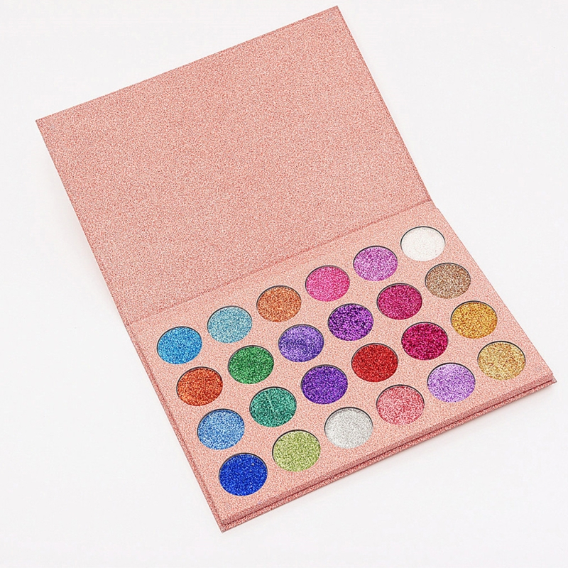 24 Colori Pressed Eyeshadow Palette Shimmer Impermeabile Lunga durata Matte Pigmento Diamante Glitter Top Eyeshadow Palette