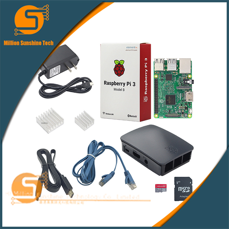Raspberry Pie 3 Generation B-game handle Learning kit Raspberry Pi 3 Development Board set with 16G card xilinx fpga development board xilinx spartan 3e xc3s250e evaluation board kit lcd1602 lcd12864 12 modules open3s250e package b