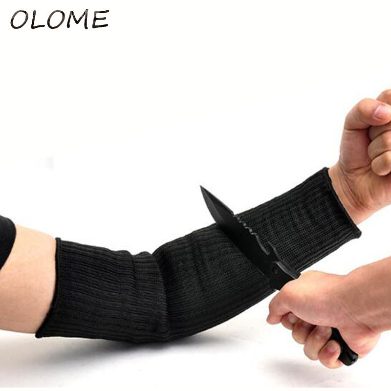 40CM Steel Wire Cut Proof Arm Sleeve Guard Bracer Anti Abrasion Armband Protector Anti-Cutting Arms Work Labor Protection Tool