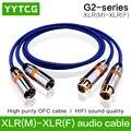 YYTCG G2 hifi XLR кабель высокая производительность OCC 2XLR папа к женскому кабелю с XLR вилкой