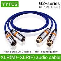 YYTCG G2 hifi XLR Cable High Performance OCC 2XLR Male to Female Cable With XLR Plug