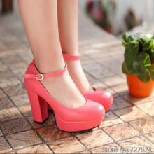 ปั๊มผู้หญิงรองเท้าหนังPUส้นสูง11.5เซนติเมตรแพลตฟอร์ม3เซนติเมตร34-43
