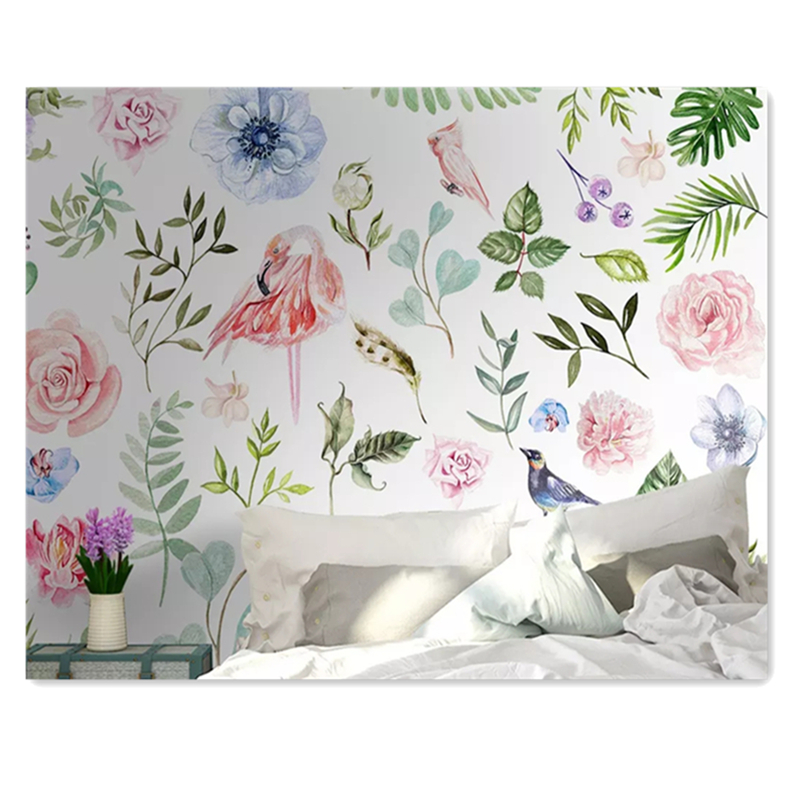 American Pastoral Flowers Wallpapers For Walls In Rolls Custom Photo 3D Murals For Living Room  Wall Papers Home Decor Painting