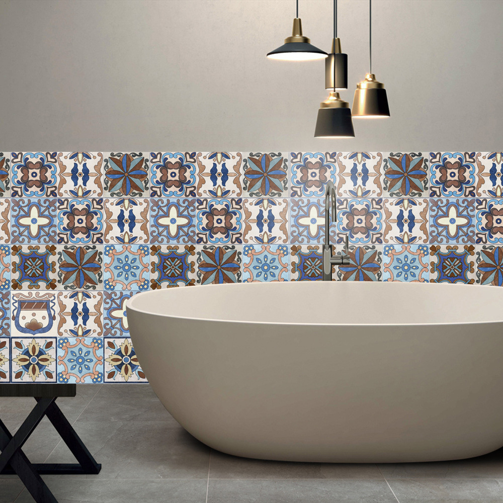 20x500cm European Tile Stickers For Kitchen Bathroom Waterproof PVC Self-adhesive Wallpaper DIY Peel And Stick Furniture Decals