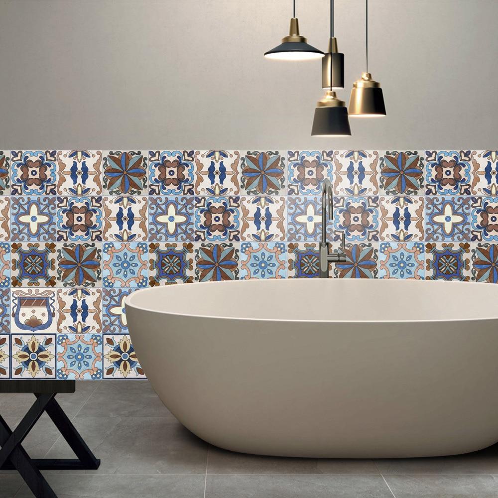 20x500cm European Tile Stickers For Kitchen Bathroom ...