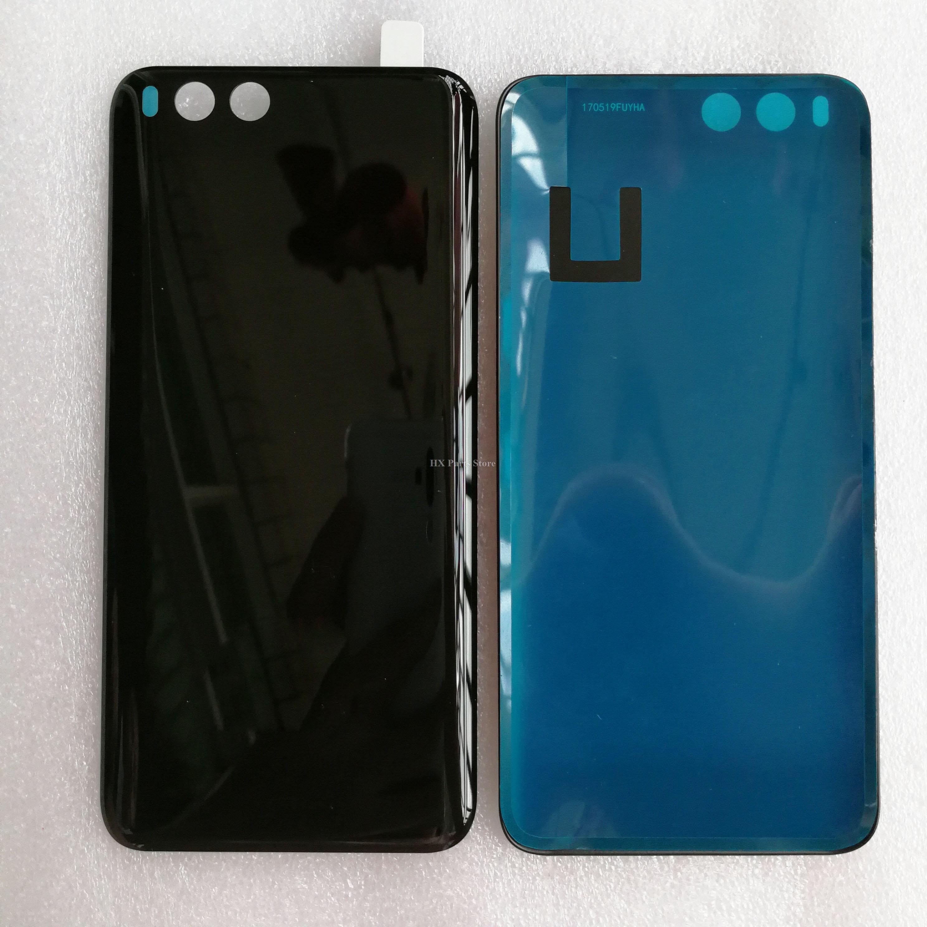 imágenes para Puerta Posterior trasera de la Cubierta Para Xiaomi Mi 6 6 M6 cubierta de Batería de Cristal Cubierta Trasera Caso de la Cubierta Negro/Blanco/azul
