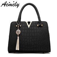 Luxury Alligator Women S Handbag PU Leather Women Bag Famous Design Women Leather Shoulder Bags Female