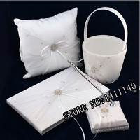 Eternity Wedding Ceremony Accessory Supplies Colour Schemes Guestbook Pen Set Ring Pillow Flower Basket