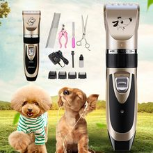 цена на Pet Dog Hair Trimmer Animal Rechargeable Electrical Grooming Clippers Cat Cutter Machine Shaver Electric Scissor Clipper