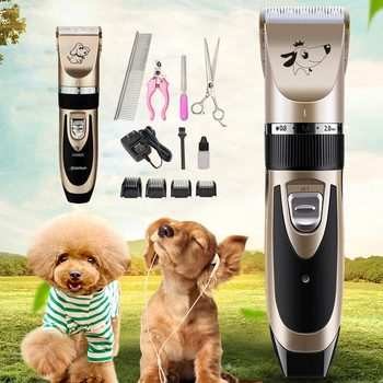 Pet Dog Hair Trimmer Animal Rechargeable Electrical Grooming Clippers Cat Cutter Machine Shaver Electric Scissor Clipper professional pet hair trimmer electric rechargeable cat dog clipper grooming cutters powerful shaver machine for animal 110 240v