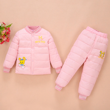 2-6 Years Kids Down Sets Suit For Baby,Children Winter Warm Down Suit Jacket Pants,Boys Warm Outerwear Coats Girls Clothing Set