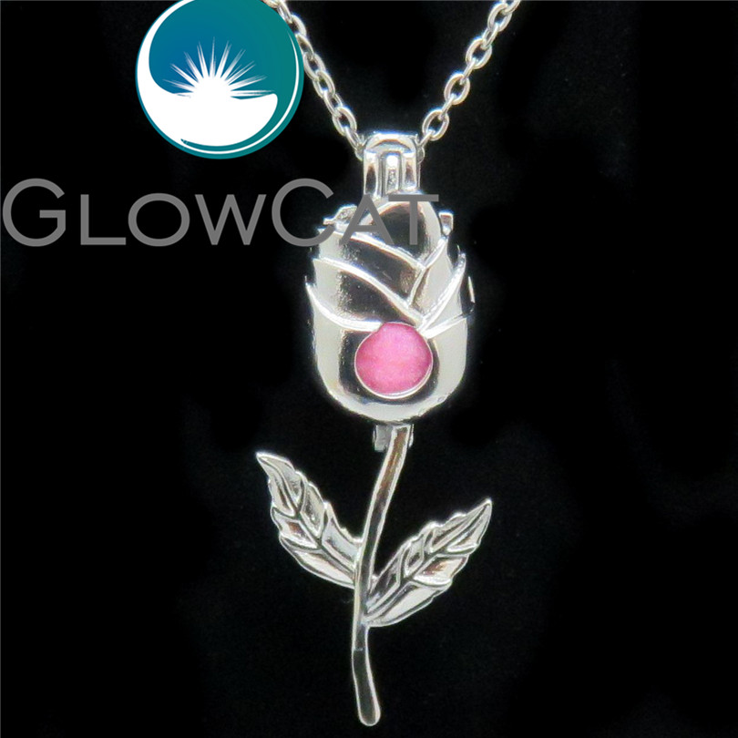 GLOWCAT K579 Beauty Rose Flower Beads Cage Essential Oil Dif