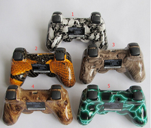 NEW:Camouflage Wireless Bluetooth Game Controller SIXAXIS Joystick Gamepad For Sony Playstation 3 PS3 5Colors With Retail Box