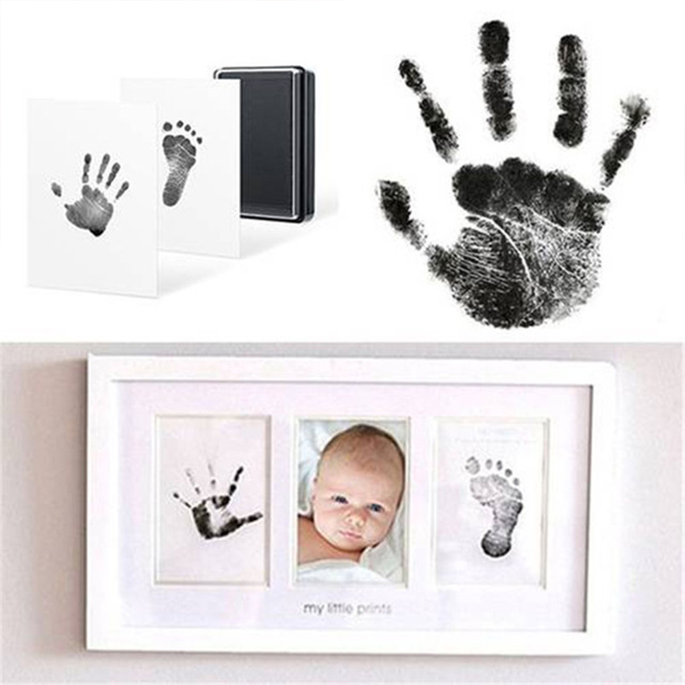 Environmental-friendly Baby Care Non-Toxic Baby Handprint Footprint Imprint Kit Baby Souvenir Drawer Inkless Handprint Casting