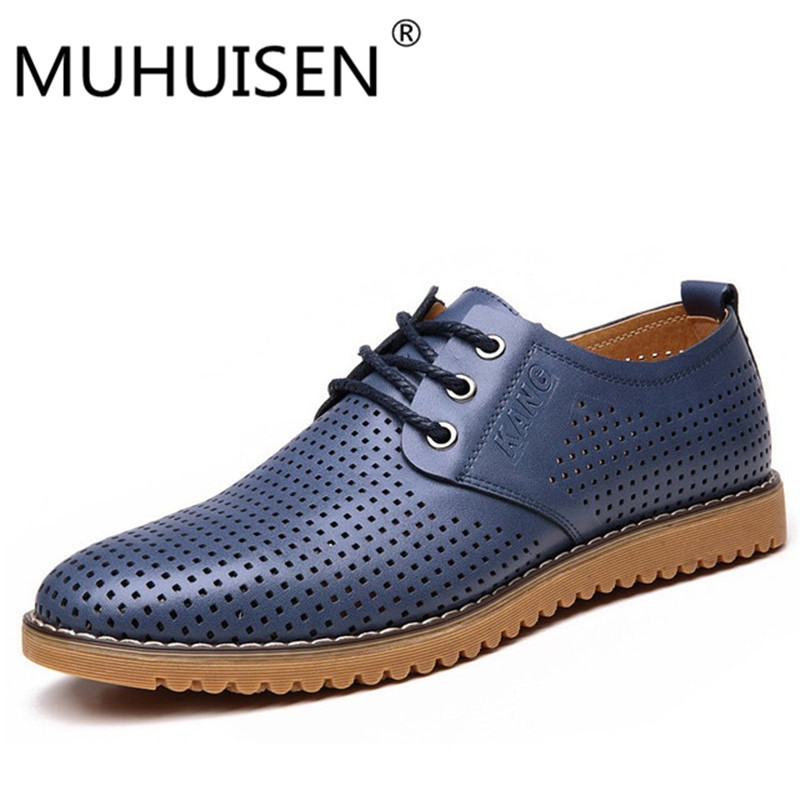 MUHUISEN Genuine Leather Men casual shoes Breathable Soft Driving Men's Handmade chaussure homme Net Surface Loafers size 38-44 handmade men flats shoes big size 45 46 47 loafers moccasins oxford genuine leather casual driving shoe soft breathable men shoe