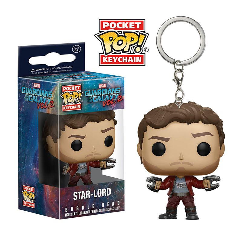 Original Funko pop Keychain Guardians of the Galaxy 2 - Star Lord Action Figure Key Chain Collectible Model Toy