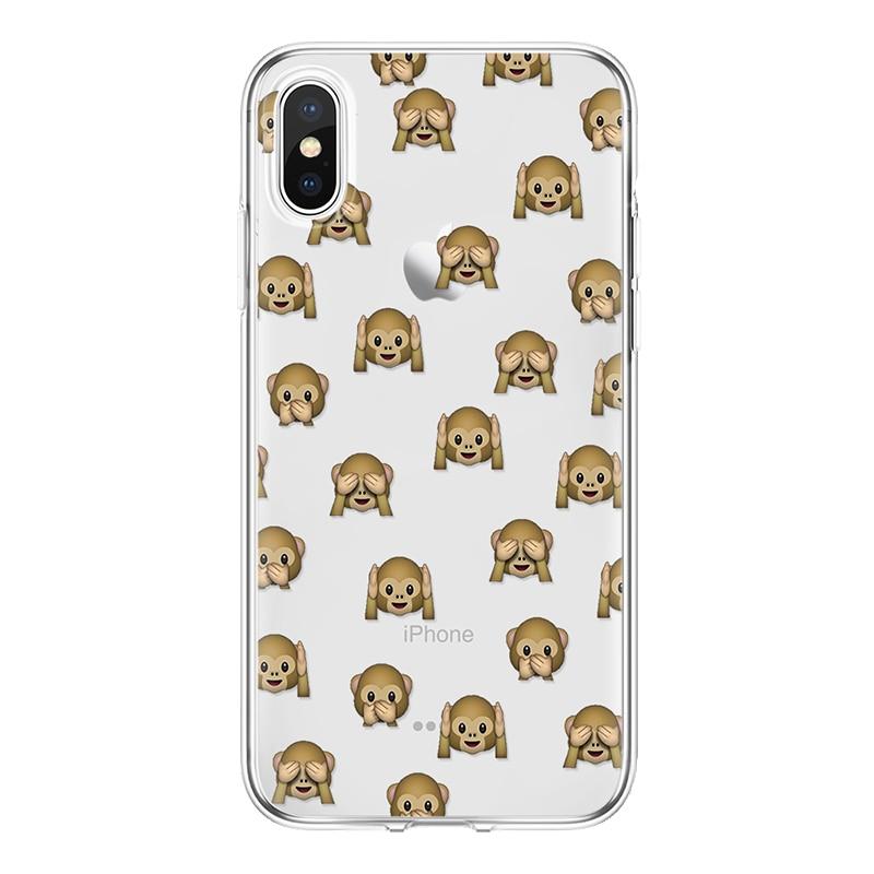 Чехол из ТПУ с принтом обезьяны для телефона чехол для iPhone 7 plus Panda чехол для iPhone 4 4S 5 5S SE 5C 6 6 S 7 8 Plus Coque для iPhone X Cat Funda