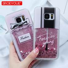 Case For Samsung Galaxy S7 Edge S8 S9 S10 Plus Note 9 10 Plus A5 2017 A50 A70 A7 2018 J5 J7 J3 2016 Liquid Glitter Dynamic Cases(China)