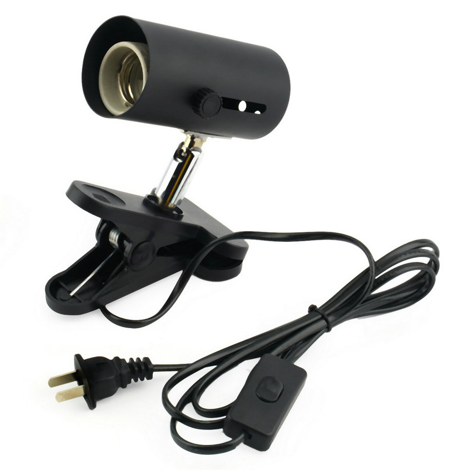 black Aquarium Reptile Light Holder Clamp Ceramic Infrared Emitter Heat Lamp Stand New Arrival Worldwide Store