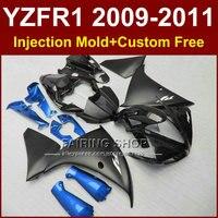 Flat black Motorcycle parts for YAMAHA fairings YZF R1 09 10 11 12 bodywork YZF1000 YZF R1 2009 2010 2011 R1