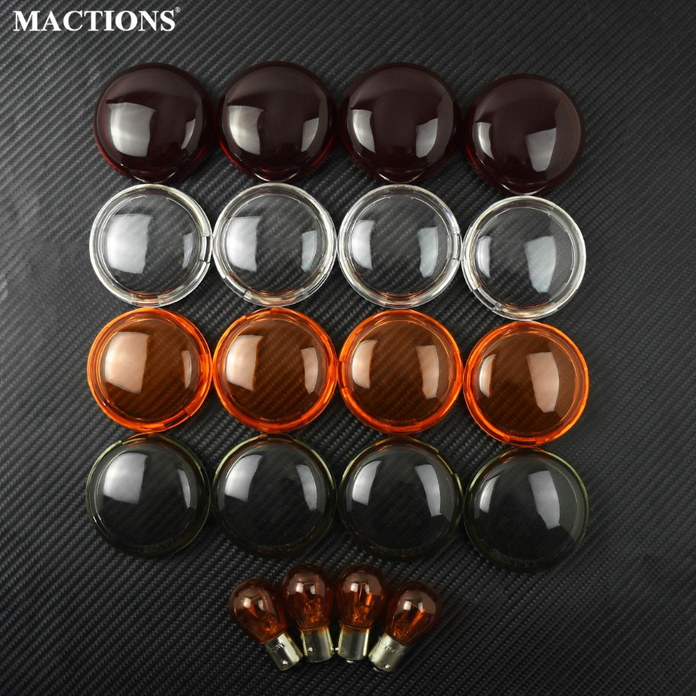 Motorcycle Turn Signal Light Lens Cover With Light Blub 4pcs/Set For Harley Touring Road Glide Sportster Dyna SoftailMotorcycle Turn Signal Light Lens Cover With Light Blub 4pcs/Set For Harley Touring Road Glide Sportster Dyna Softail
