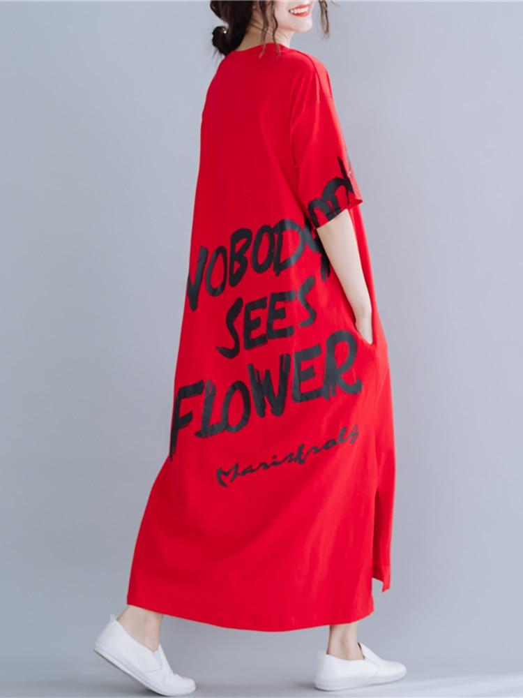 Belinerosa Women Dress Oversized-Dresses Summer-Style Plus-Size Fashion European SGBZ0001