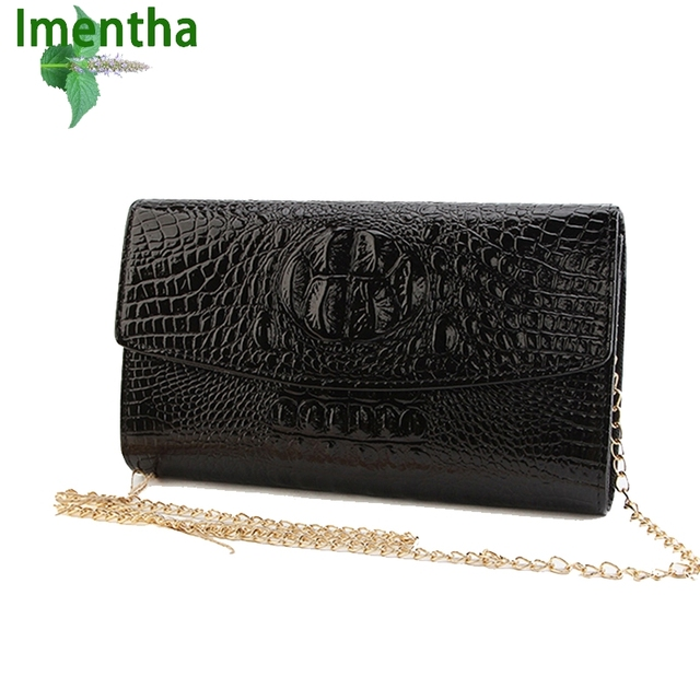2018 Gold Chain Clutch Bag For Lady Women's Handbag Fashion Envelope Bag Party Evening Clutch Bags Black Purse Day Clutch