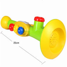 High Quality 25cm Educational Plastic Electronic Trumpet Music Instruments toy for Kids children learning Trumpet Instrument