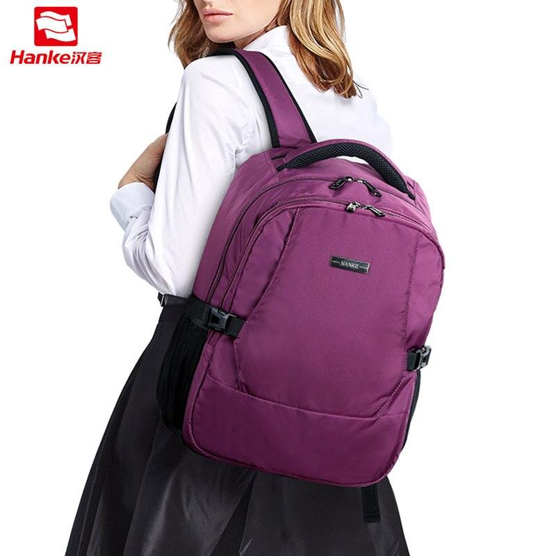 Hanke Women Backpack Female For Girls Men Laptop Travel Backpacks 15 6 mochila Teenager Bag College