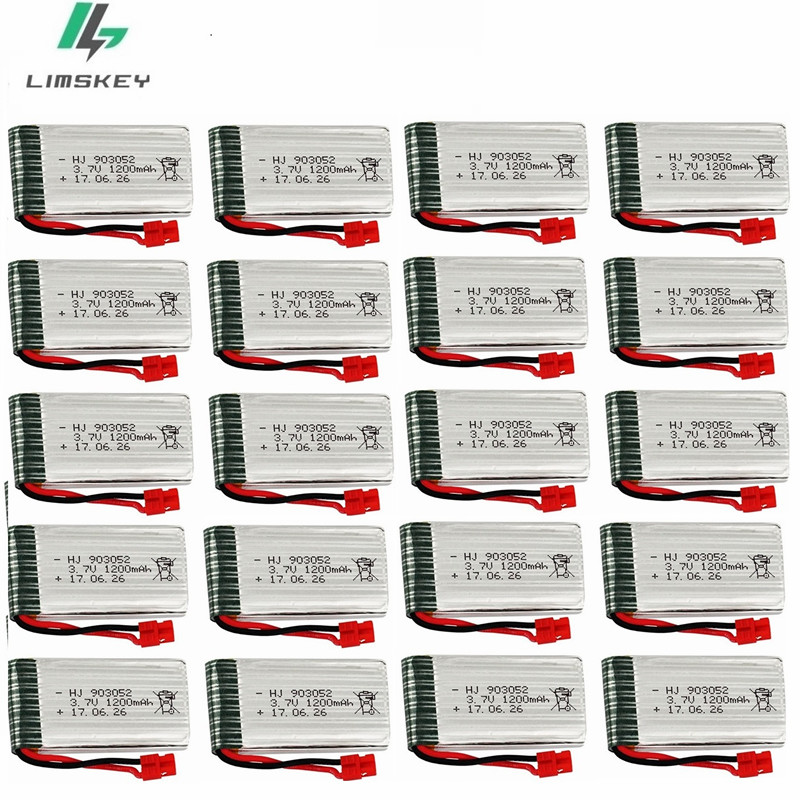 <font><b>3.7V</b></font> <font><b>1200mah</b></font> <font><b>Lipo</b></font> <font><b>Battery</b></font> For Syma X5 X5HC X5HW RC Quadcopter Spare Parts <font><b>3.7V</b></font> <font><b>Battery</b></font> RC Camera Drone Accessories 20pcs/Sets image