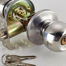 Вращающаяся круглая дверная ручка-кнопка из нержавеющей стали вход врезной замок с Kep Набор